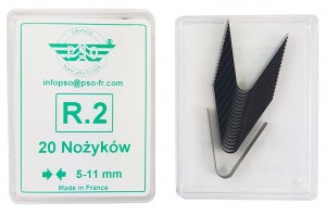 Nożyki R2 (5-11mm) do nacinarki do opon PSO PS-15